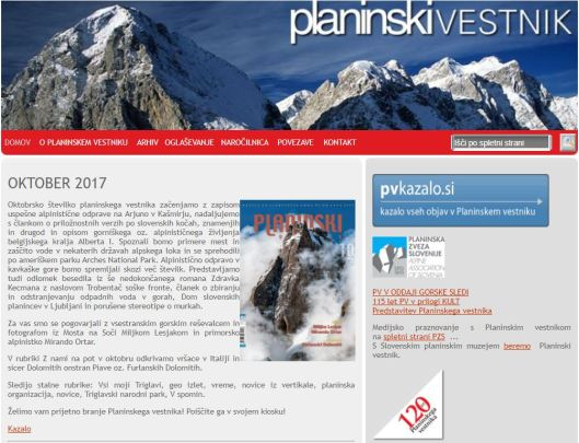 Planinski vestnik - naslovnica